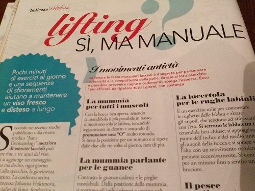 lifting manuale e ginnastica viso antiage : il metodo di Joanna Hakimova